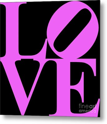 Love 20130707 Violet Black Metal Print by Wingsdomain Art and Photography