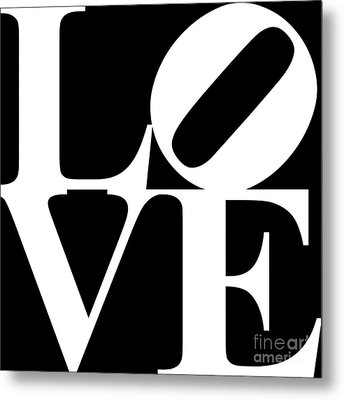 Love 20130707 White Black Metal Print by Wingsdomain Art and Photography