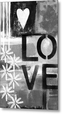 Love- Abstract Painting Metal Print by Linda Woods