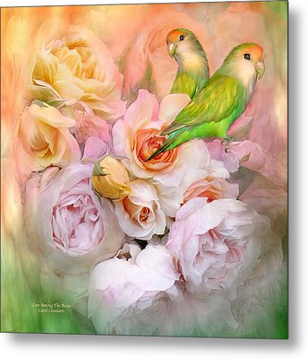 Love Among The Roses Metal Print by Carol Cavalaris