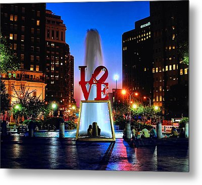 Love At Night Metal Print by Nick Zelinsky