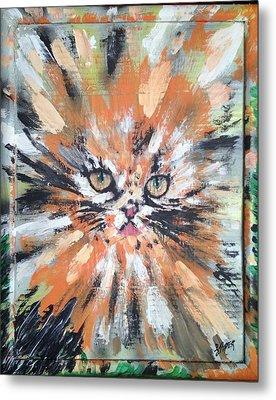 Love For Cats Metal Print by Lisa Piper Menkin Stegeman