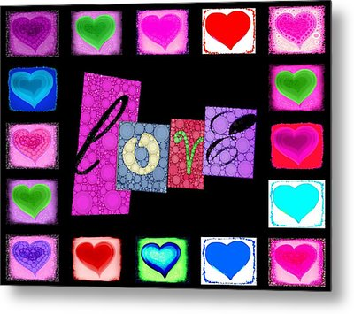 Love Hearts Metal Print by Cindy Edwards