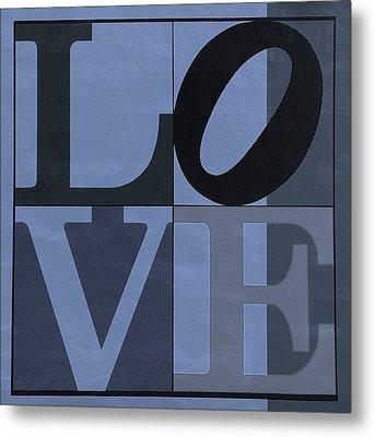 Love In Cyan Metal Print by Rob Hans