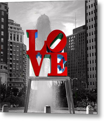Love Is Always Black And White Square Metal Print by Paul Ward