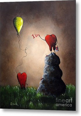 Love Is Playful By Shawna Erback Metal Print by Shawna Erback