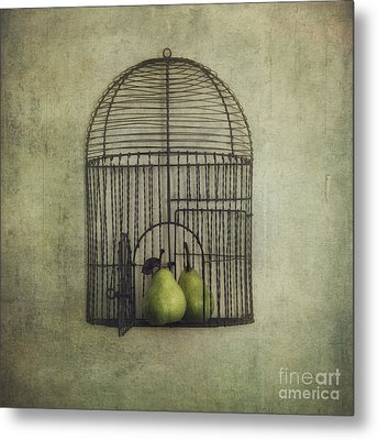 Love Is The Key Metal Print by Priska Wettstein