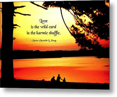 Love Is The Wild Card Metal Print by Mike Flynn