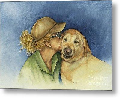 Love Me Love My Dog Metal Print by Nan Wright