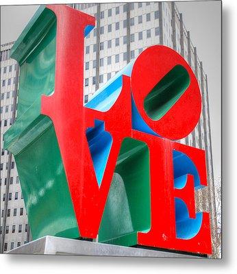 Love Sculpture Metal Print by Jennifer Ancker