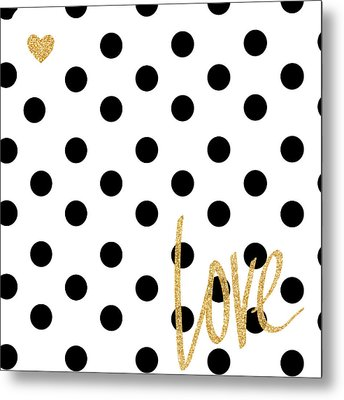 Love With Dots Metal Print by South Social Studio
