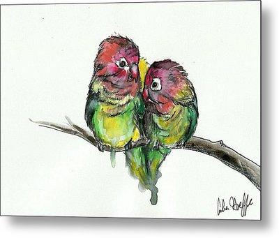 Lovebirds Metal Print by Amber Hoeffer
