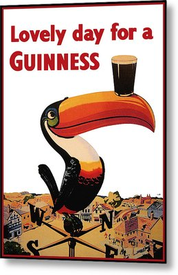 Lovely Day For A Guinness Metal Print by Nomad Art