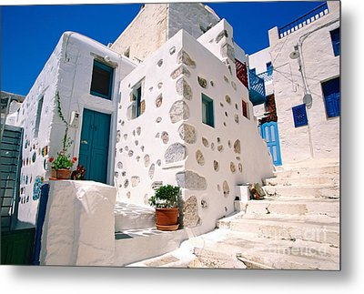 Lovely Outer Wall Metal Print by Aiolos Greek Collections