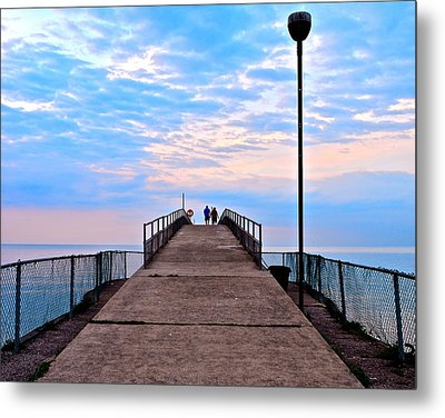Lovers Lane Metal Print by Frozen in Time Fine Art Photography