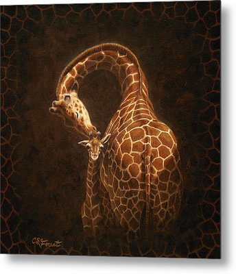 Love's Golden Touch Metal Print by Crista Forest