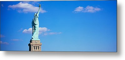 Low Angle View Of A Statue, Statue Metal Print by Panoramic Images