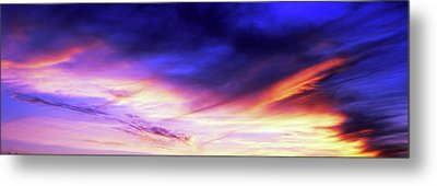 Low Angle View Of Sky At Sunset, Cape Metal Print by Panoramic Images