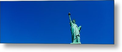 Low Angle View Of Statue Of Liberty Metal Print by Panoramic Images