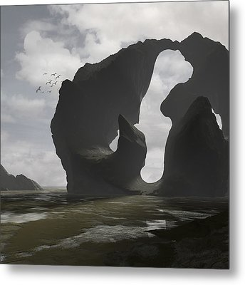 Low Tide Metal Print by Cynthia Decker