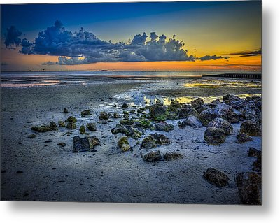 Low Tide On The Bay Metal Print by Marvin Spates