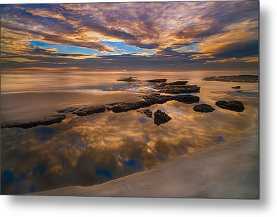 Low Tide Reflections Metal Print by Larry Marshall