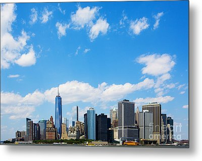 Lower Manhattan New York City Metal Print by Diane Diederich
