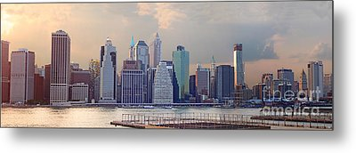 Lower Manhattan Panorama From Brooklyn Metal Print by Thomas Marchessault