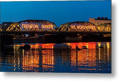 Lower Trenton Bridge Metal Print by Louis Dallara