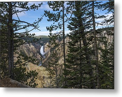 Lower Yellowstone Canyon Falls - Yellowstone National Park Wyoming Metal Print by Brian Harig