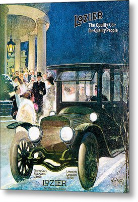 Lozier Metal Print by Vintage Automobile Ads and Posters