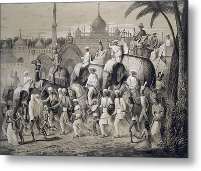 Lucknow, The Principal Street Metal Print by A. Soltykoff
