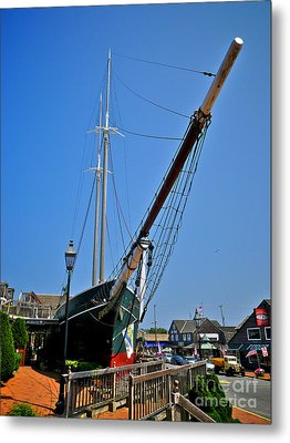 Lucy Evelyn At Schooner's Wharf Metal Print by Mark Miller