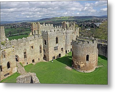 Ludlow Castle Chapel And Great Hall Metal Print by Tony Murtagh