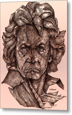 Ludwig Van Beethoven Metal Print by Derrick Higgins