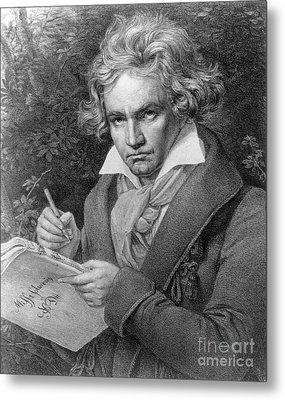 Ludwig Van Beethoven Metal Print by Joseph Carl Stieler