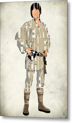 Luke Skywalker - Mark Hamill  Metal Print by Ayse Deniz