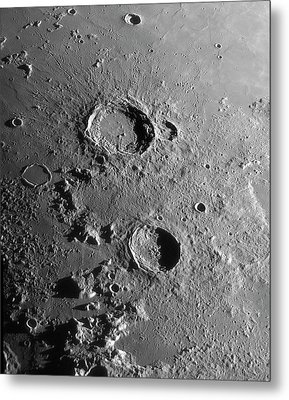Lunar Craters Aristoteles And Eudoxus Metal Print by Damian Peach