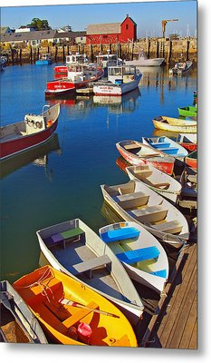 Lunch At The Harbor Metal Print by Joann Vitali