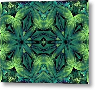 Luscious Greenery Metal Print by Georgiana Romanovna