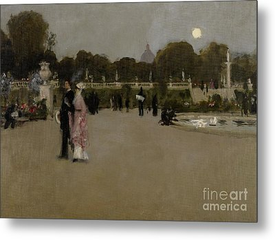 Luxembourg Gardens At Twilight Metal Print by John Singer Sargent