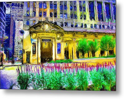Lyric Opera House Of Chicago Metal Print by Ely Arsha