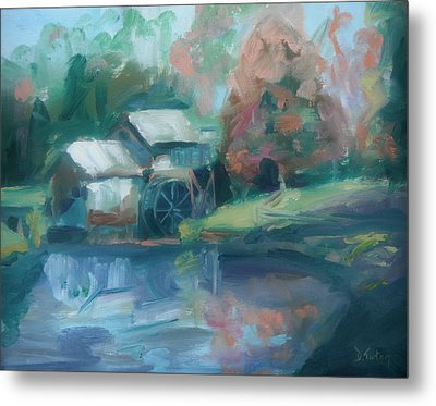 Mabry Mill Metal Print by Donna Tuten