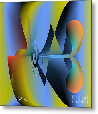 Machine For Happiness Metal Print by Leo Symon