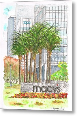 Macy's In Century City Mall - Beverly Hills - California Metal Print by Carlos G Groppa