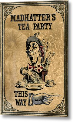 Mad Hatters Tea Party Metal Print by Greg Sharpe