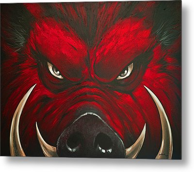 Mad Hog Metal Print by Glenn Pollard