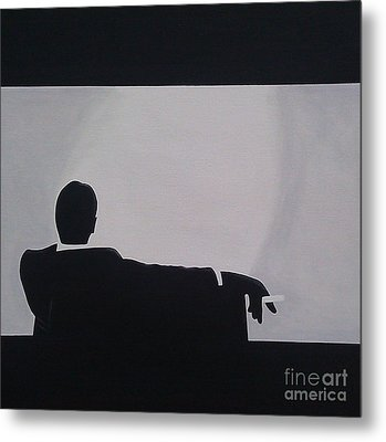 Mad Men In Silhouette Metal Print by John Lyes