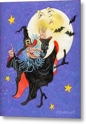 Mad Millie Moon Dance Metal Print by Richard De Wolfe