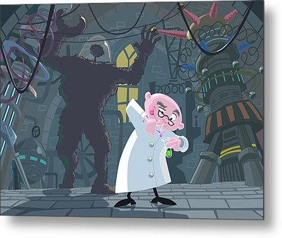 Mad Professor Experiment Metal Print by Martin Davey
